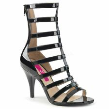Pleaser Pink Label DREAM-438 Ankle Boot Women's Black Patent