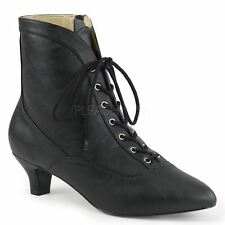 Pleaser Pink Label FAB-1005 Ankle Boot Women's Black Faux Leather