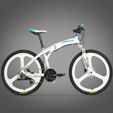 26in Man Folding Mountain Bike Bicycle 27 Speed Disc Brake 17in 3 Spoke