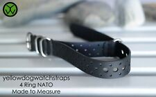 Black RALLY Style Waterproof Rubber Divers NATO ZULU watch strap 17mm to 25mm