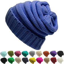 Mens Womens Beanie Knitted Ski Caps Hip-Hop Blank Color Winter Warm Wool Hats