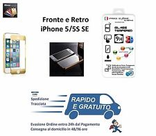 Pellicola in Vetro Temperato per iPhone 5/5S Fronte e Retro iPhone SE