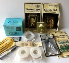 VINTAGE LOT Doll House Cir-Kit 20W Transformer Wire Supplies Tools Light Lamp +