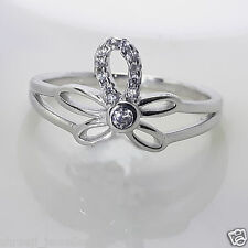 Sterling 925 Pure Silver Pretty Crown Diamond Ring For Girls/Womans