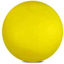 Yellow Inflatable solid colour beach ball swimming pool outdoor party swimming