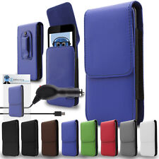 PU Leather Vertical Belt Case And Car Charger For Nokia 3310 2017