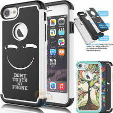 Shockproof Hybrid Impact Rubber Defender Hard Case Cover for Apple iPhone 7