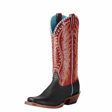 Ariat Western Womens Boots Elephant Print Derby Black 10017364