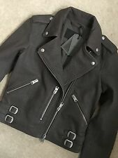 "ALL SAINTS TAUPE BROWN ""WATSON"" LEATHER BIKER JACKET COAT - UK 6 - NEW TAGS"