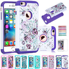 2016 Bling Crystal Shockproof Hybrid Armor Case Cover for Apple iPhone 6 6S Plu