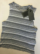 "ALL SAINTS WOMEN'S CLOUD INK  ""ELI STRIPE TANK"" VEST TOP - XS - NEW TAGS"