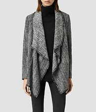 "ALL SAINTS WOMEN'S BLACK WHITE ""ALPHA ROUX"" COAT JACKET - UK 8 10 12 - NEW TAGS"