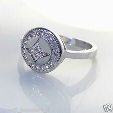 Sterling 925 Pure Silver Beautiful Princess wear Diamond Ring For Girls / Womans