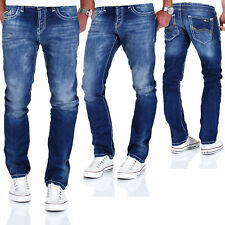 Jeans Herren Hose Used Look Dicke Naht Denim Redbridge by Cipo & Baxx Chino NEU
