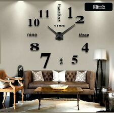 OROLOGIO PARETE 3D DECORATIVO ADESIVO Wall Clock Watch Acrylic Mirror Quartz
