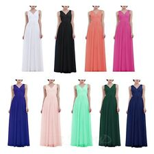 Women Chiffon Long Formal Prom Cocktail Ball Gown Evening Party Bridesmaid Dress