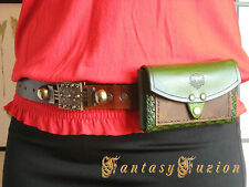 Medieval Larp Knight Leather Belt Pouch Case Wallet