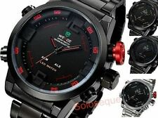 OROLOGIO WEIDE DUAL SPORTIVO MILITARE LED DIGITALE Sport Watch Stainless Steel