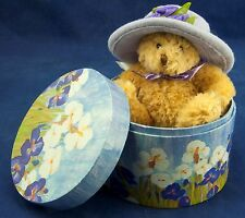 Hat Box Teddy Bear Avon CollectibleNIB