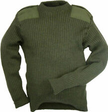 British Army Surplus Army Commando Pullover Military Clothing Wool Green