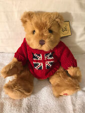 Harrods Bear, red sweater, new with tags.