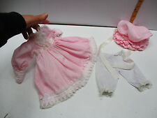VICTORIAN STYLE COTTON PINK DOLL DRESS For Vintage Antique ChinA 16