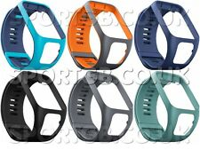 TOMTOM RUNNER 2 + 3 REPLACEMENT WATCH STRAPs - SMALL AND LARGE - MANY COLOURS