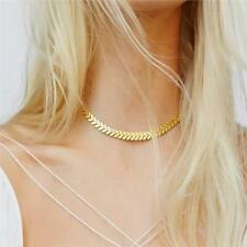 New Gold or Silver Pendant Chain Choker Statement Bib Necklace Jewelry Charm
