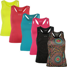 USA Pro Mujer camiseta sin mangas Chaleco Fitness De Tirantes Top Racer
