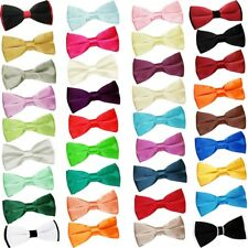 High Quality Premium Satin Plain Solid Men's Formal Wedding Pre-tied Bow Tie