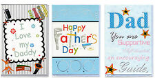 HAPPY FATHERS DAY CARD I LOVE MY DAD CARD THANX FOR DAD CARD SUPPORTIVE DAD CARD