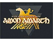 * AMON AMARTH - WITH ODEN ON OUR SIDE LOGO - OFFICIAL TEXTILE POSTER FLAG