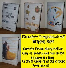 Exclusive CONGRATULATIONS Wrapping Paper for Birthday / Christening / Wedding