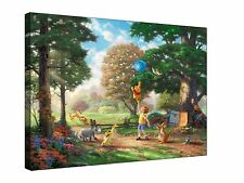 Winnie the Pooh Painted Effect- Gallery Giclee Canvas Wall Art +Sizes