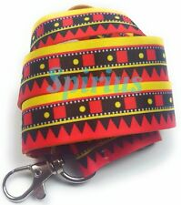 Spirius Ethnic Lanyard Neck Strap with Metal Clip for ID Card Key Badge Holder