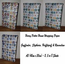 Harry Potter Houses Wrapping Paper -Gryffindor Slytherin Hufflepuff Ravenclaw.