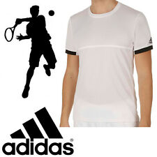adidas Mens T16 Climacool Sports T-Shirt White Tennis Gym Running Top