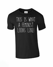 This Is What A FEMINISTA Looks Like Unisex T-Shirt Moderno (feminista,CAMISETA)