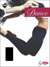 Girls Childrens Dance Footless Tights In Black By Silky Sizes 3 Years - 13 Years