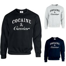 COCAINE ET CAVIAR SWEAT PULL TUMBLR HIPSTER SWAG DOPE HAUT(COCAINE,PULL)