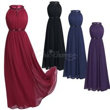 Women Formal Long Wedding Bridesmaid Dress Cocktail Evening Party Ball Prom Gown