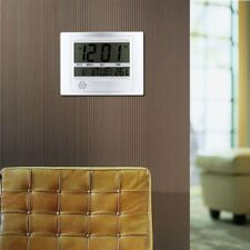 Home Large LCD Digital Calendar Thermometer Alarm Wall Mount/Table Stand Clock#C