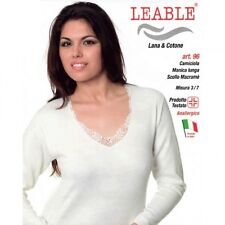 LEABLE 3 CANOTTE DONNA DOUBLE MANICA LUNGA 96