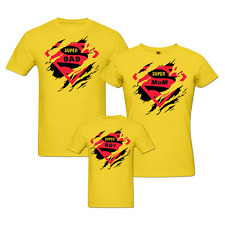 Super Family - Matching Family T-shirts - Set Of 3