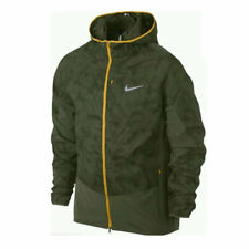 Nike Printed Trail Kiger Full-Zip Men's Running Jacket - Forest Green/Khaki
