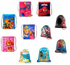 DISNEY Kids Boys Girls Swimming School Gym Nursery Sports PE Drawstring Bag