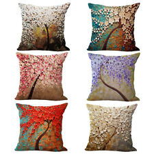 NEW 3D Oil Painting Design Throw Pillow Cushion with PP Interior Insert Filling