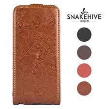 Snakehive® Samsung Galaxy S4 Mini Premium Handy Leather Flip Top Case Cover