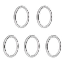 5pcs Precision Polished Welded Stainless Steel O-ring 15 - 25mm Marine Boat