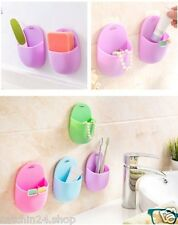 Set of 2 Bathroom cum Kitchen Accessories Toothbrush Wall Mounted Holder